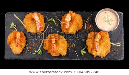 Tiger shrimp fried in Tempura with vegetables Stock photo © joannawnuk