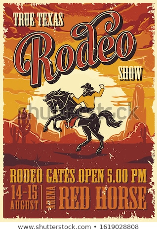 Rodeo poster Stock photo © colematt