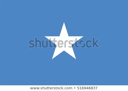 Somalië vlag witte groot ingesteld ontwerp Stockfoto © butenkow