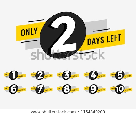 promotional number of days left sign banner Stock photo © SArts