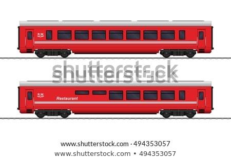Foto stock: Trem · carro · estação · de · trem · transporte · logística