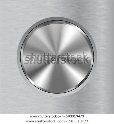 Tecnologia badge metal abstract Foto d'archivio © molaruso
