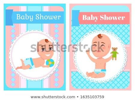 少女 · 少年 · セット · ポスター · 専用の · 赤ちゃん - ストックフォト © robuart