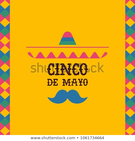 Cinco de Mayo card of mexican mariachi man hat Stock photo © cienpies