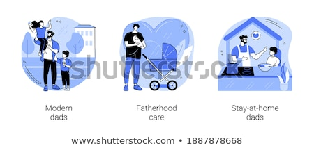 Happy parenthood vector concept metaphor Stock photo © RAStudio