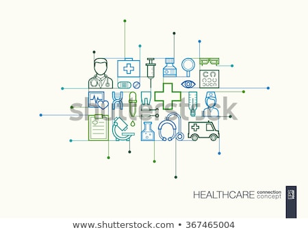 Healthcare concept on blue Stock photo © neirfy