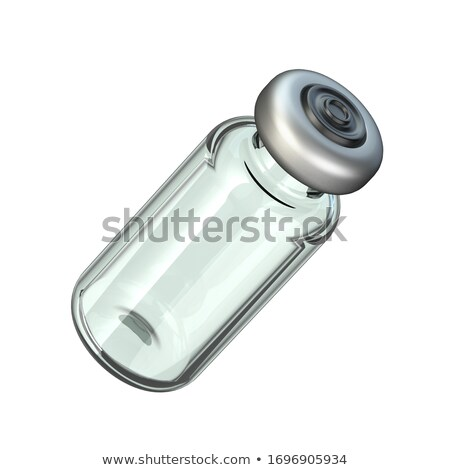 Angled glass ampoule 3D Stock photo © djmilic