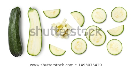 Freshly sliced healthy zucchini or courgette Stock photo © Giulio_Fornasar