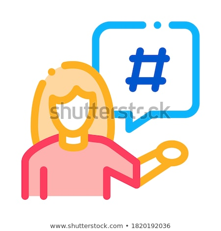 female discontent icon vector outline illustration Stock photo © pikepicture