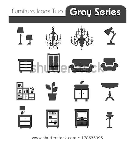 Furniture Icons // Black Series Stock photo © Palsur
