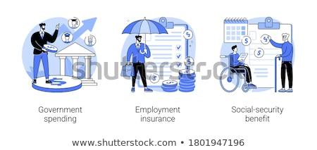 Emprego seguro abstrato doença benefícios renda Foto stock © RAStudio