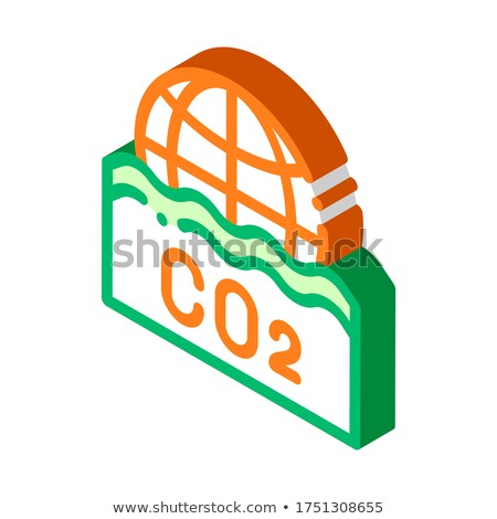 Co2 Smoulder Smoke Steam Air isometric icon vector illustration Stock photo © pikepicture
