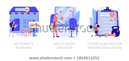 Pandemic business adaptation abstract concept vector illustrations. Stock photo © RAStudio