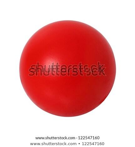 Rojo pelota blanco círculos playa deporte Foto stock © carenas1