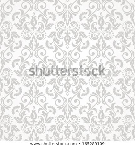бесшовный дамаст аннотация обои лист ткань Сток-фото © SelenaMay