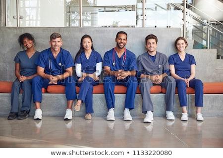 Fila medici salute infermiera shirt Foto d'archivio © photography33