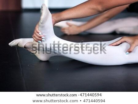 Jóvenes bailarín piso nina cara mujeres Foto stock © wavebreak_media