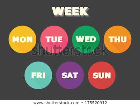 Days of the week: monday Stock photo © vankad