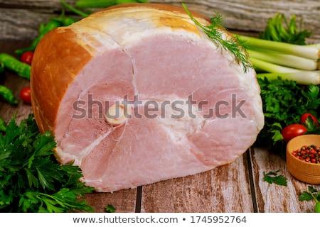 smoked ham stock photo © zhekos