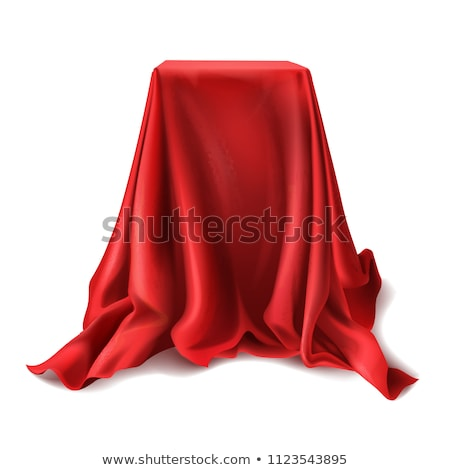 cuadro · cubierto · rojo · tela · hacer · estudio - foto stock © cherezoff