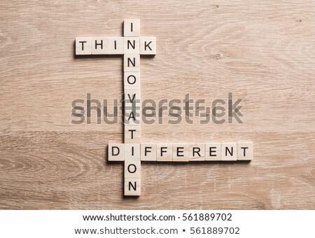 para · a · frente · pensando · inovação · problema · idéias · negócio - foto stock © flipfine