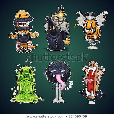 Desenho animado monstro humor projeto tshirt imprimir Foto stock © Voysla