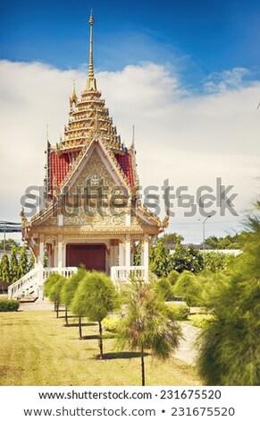 Kápolna thai templom vallásos utazás építészet Stock fotó © Yongkiet