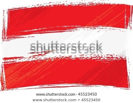 Austrian Grunge Flag Stok fotoğraf © Oxygen64