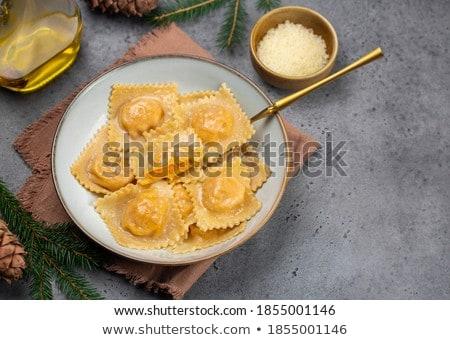 青 プレート 広場 画像 食品 ストックフォト © Koufax73