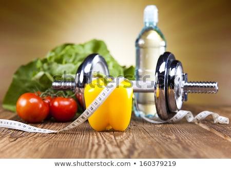 Fitnessz diéta vitaminok egészséges friss gyümölcs Stock fotó © JanPietruszka