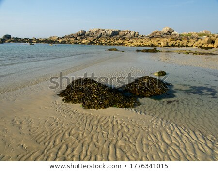 Boulders and beach at Kerlouan, Brittany, France Stock photo © tilo