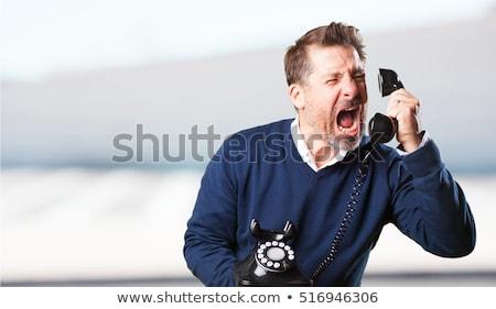 怒っ 若い男 ルックス ヘッド 電話 ストックフォト © JamiRae