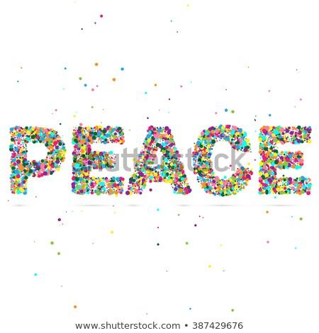 Paz palavra partículas eps 10 Foto stock © netkov1