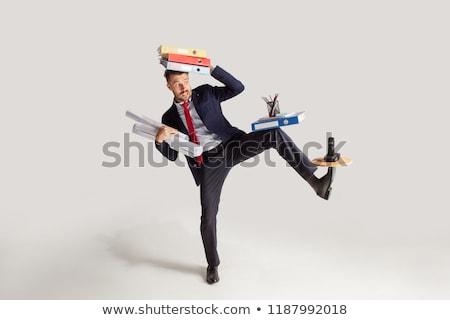 Jongleren persoon stukken witte palm Stockfoto © kitch