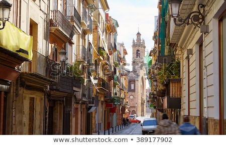 Valencia Bolseria street Barrio del Carmen Spain Stock photo © lunamarina