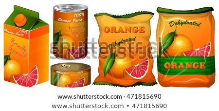 Orange différent emballage illustration fruits fond Photo stock © bluering