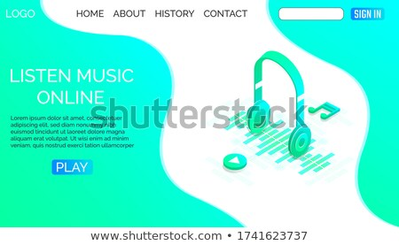 Music Downloader Shows Sound Tracks And Application Stock photo © stuartmiles