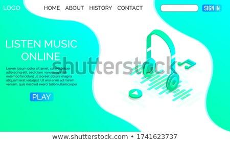 müzik · indirmek · ses · akustik · izlemek · ses - stok fotoğraf © stuartmiles
