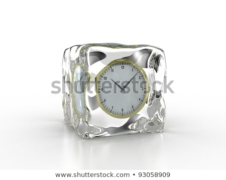 Frozen In Time Concept With Ice Cubes And A Clock Сток-фото © Fotovika