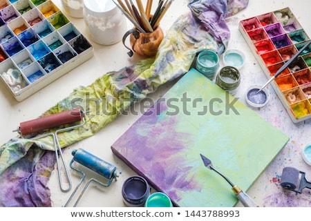 Kolorowy palety tabeli trawnik farbują edukacji Zdjęcia stock © wavebreak_media