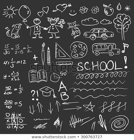 Answers on Chalkboard with Doodle Icons. Stock photo © tashatuvango