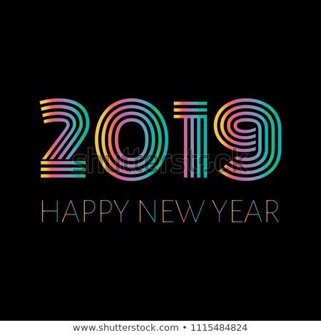 Happy new year örnek matbaacılık numara parlak renkli Stok fotoğraf © articular
