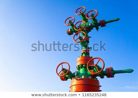 Wellhead with valve armature. Stock photo © EvgenyBashta