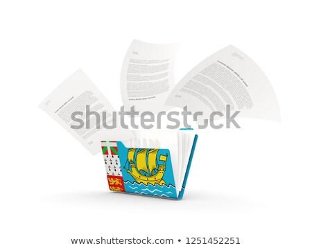 Klasör bayrak aziz Dosyaları yalıtılmış beyaz Stok fotoğraf © MikhailMishchenko