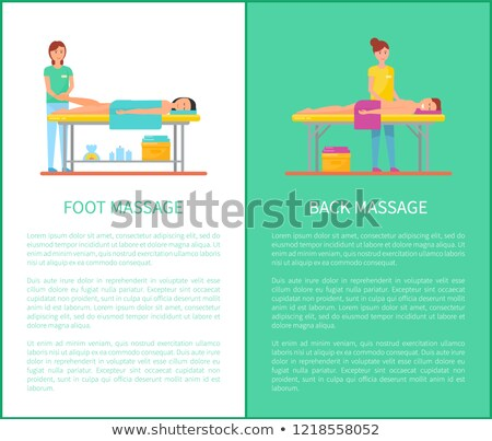back and foot massage session cartoon vector set stock photo © robuart