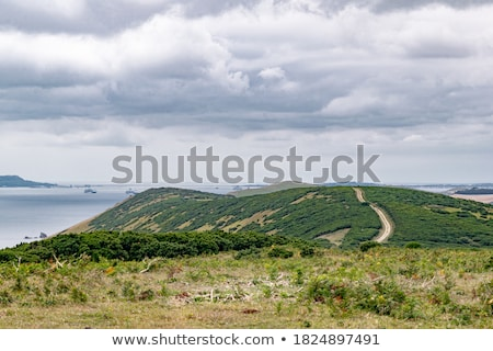panoramic rural fields for miles and miles stock photo © lovleah