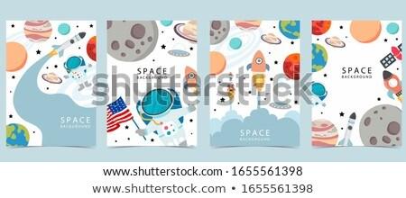 Wetenschap ingesteld patroon eps 10 school Stockfoto © netkov1