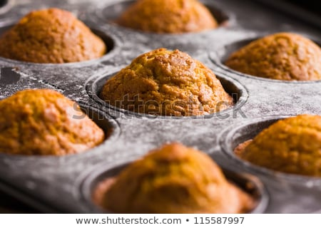 Fresh Baked Pumpkin Muffins in Baking Pan Stock photo © StephanieFrey