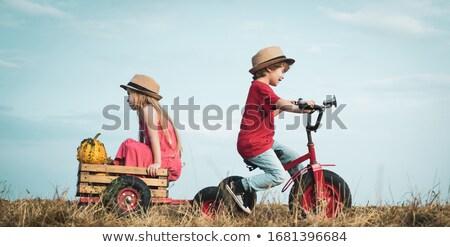 infância · férias · de · verão · sorrir · cara · homem - foto stock © konradbak