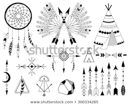 kézzel · rajzolt · rajz · hippi · koponya · haj · napszemüveg - stock fotó © netkov1